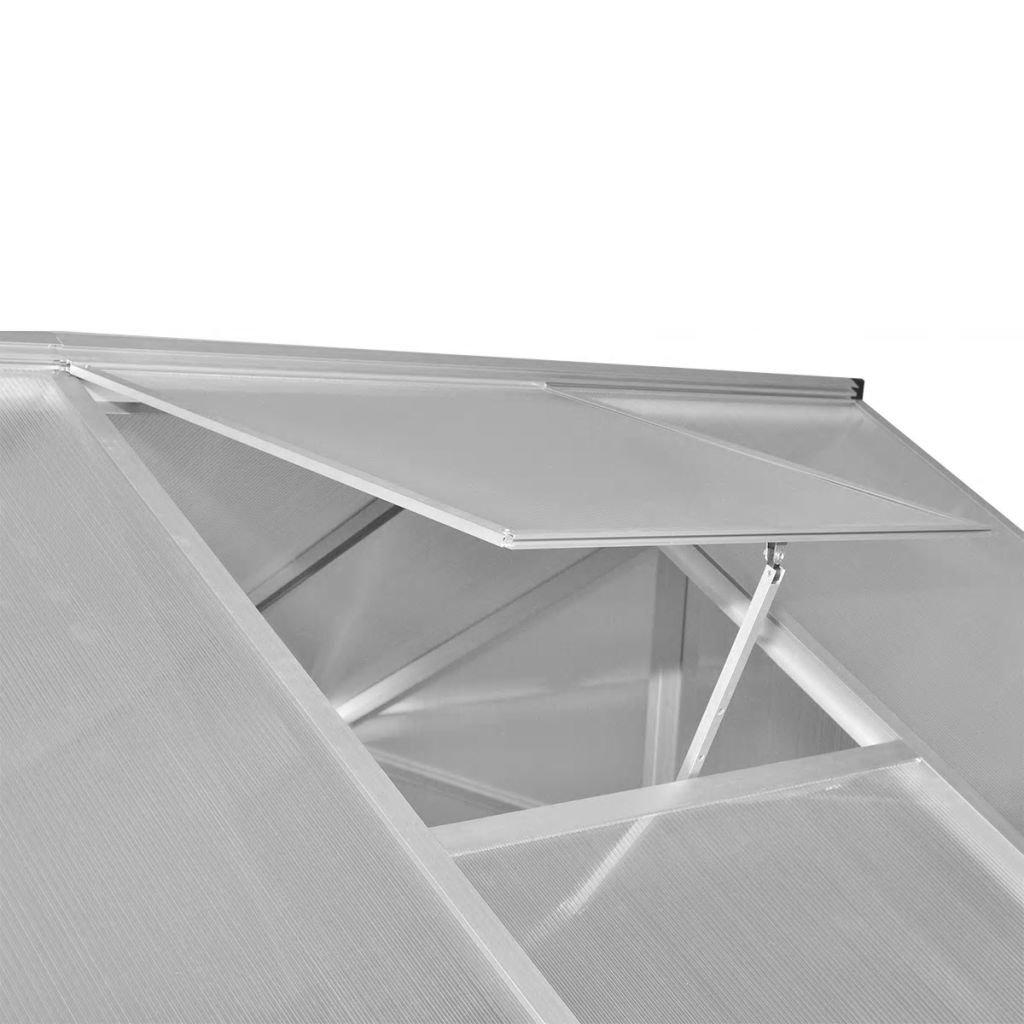 Tidyard Invernadero Caseta,Invernadero de Jardín Policarbonato Transparente,Paneles de Doble Pared,Construcción de Aluminio,10,53m² 421x250x195cm(Marco Base ...