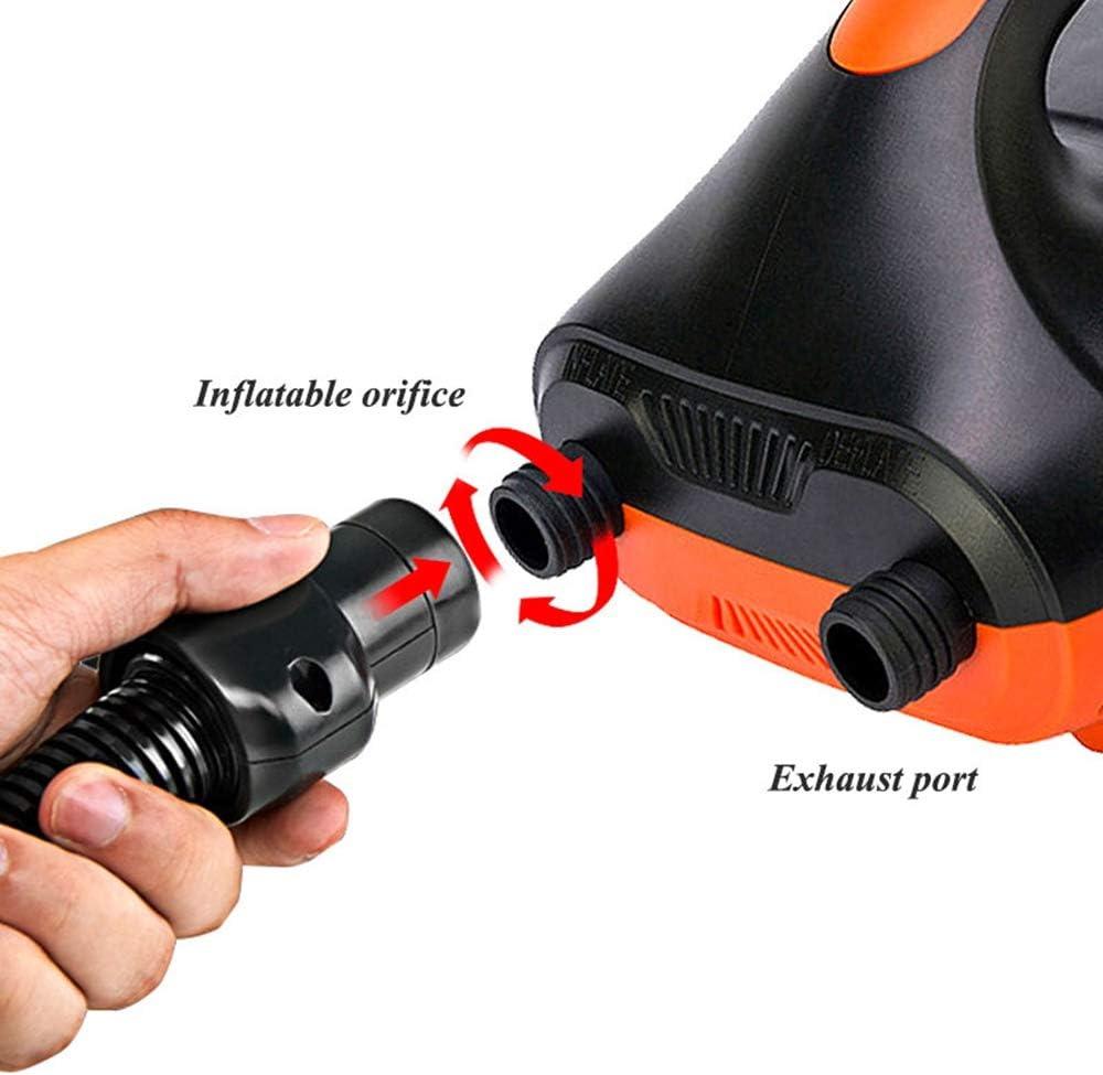 avec arr/êt automatique PSI pr/ér/égl/é max 20 PSI et 6 adaptateurs de pompe /à air suppl/émentaires pour gonfler des planches SUP Hamkaw Pompe /à air /électrique pour bateau gonflable