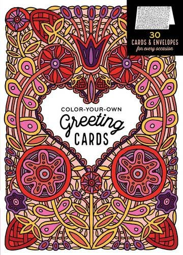 Price comparison product image Color-Your-Own Greeting Cards: 30 Cards & Envelopes for Every Occasion