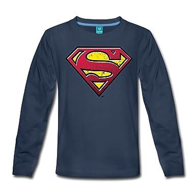 277d04ae0a402 Spreadshirt DC Comics Superman Logo Vintage T-shirt manches longues Premium  Enfant