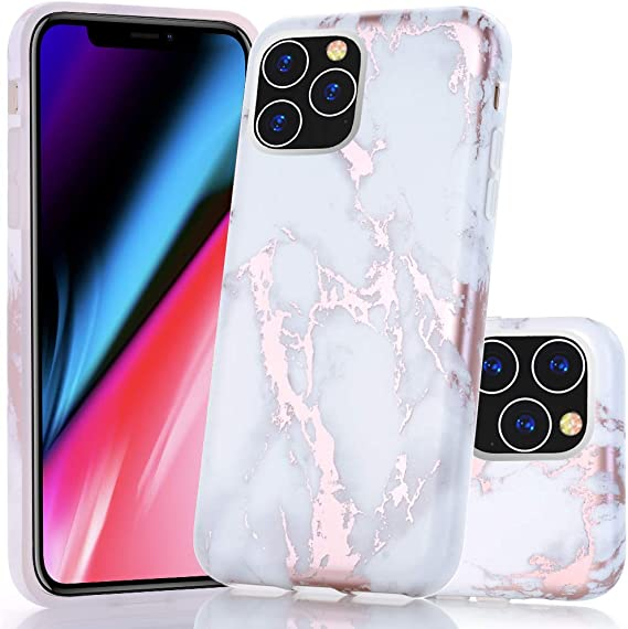 Amazon Com Baisrke Iphone 11 Pro Max Case Shiny Rose Gold Marble Design Bumper Matte Tpu Soft Rubber Silicone Cover Phone Case For Iphone 11 Pro Max 6 5 Inch 2019 White Marble Electronics