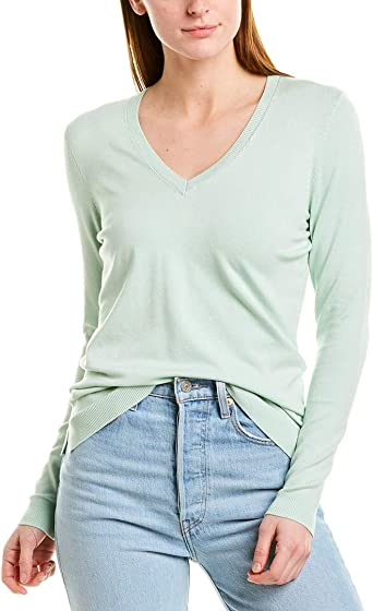 525 America V Neck Sweater at Amazon Women's Clothing store