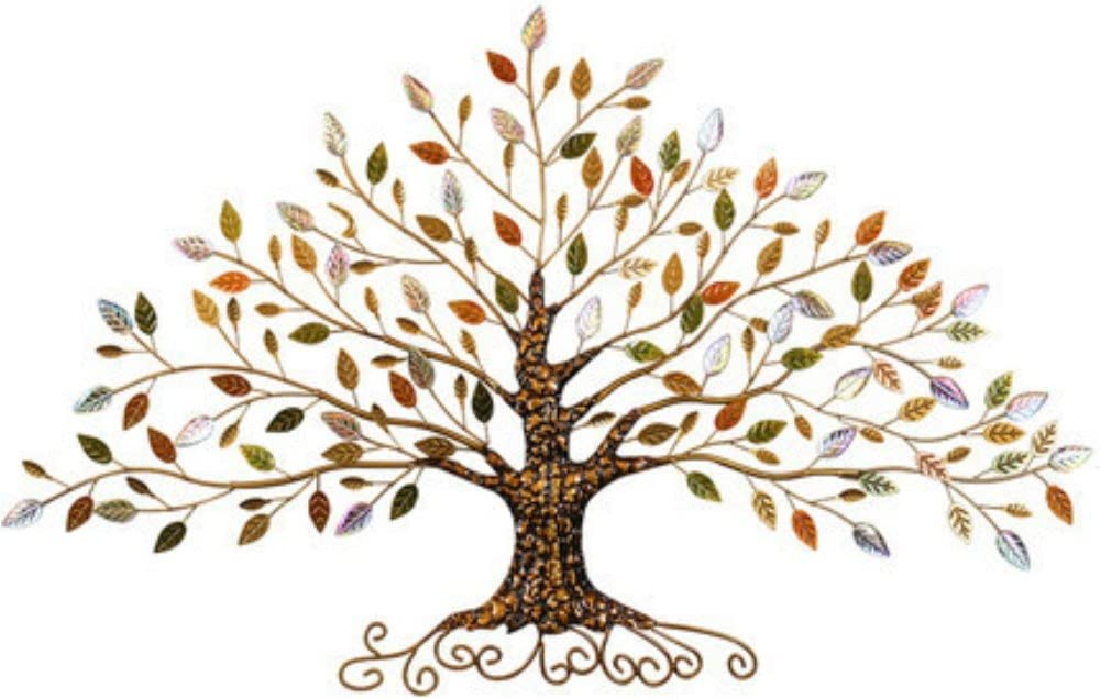 Tree of Life, Metal Tree Art, Gold Tree Home Decor (M, Gold Tree B)