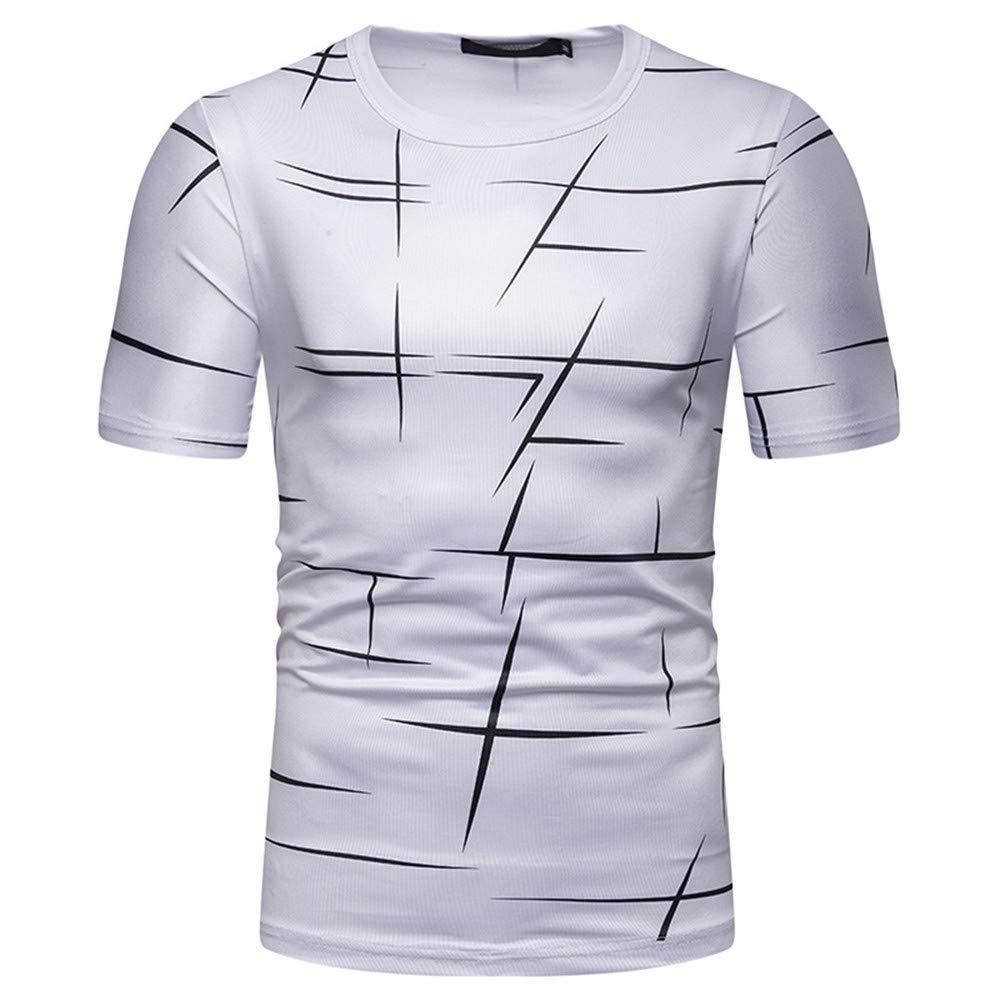 Dempuss Men Casual Short Sleeve Round Neck Print Tees T-Shirt