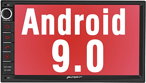 USB Subwoofer Control Volante GPS navegador Radio para Coche est/éreo Doble soporta Bluetooth WiFi 4G AV-out Mirror-Link 【Nuevo】 Pumpkin Android 9.0 2 DIN Autoradio Universal