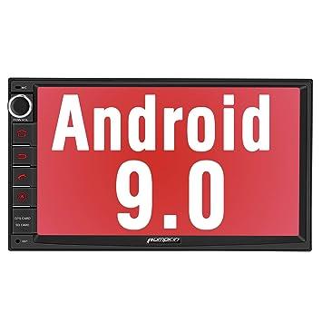 Bluetooth Mirror-Link Doble Radio para Coche est/éreo soporta GPS navegador PUMPKIN Android 9.0 2 DIN Autoradio Universal Control Volante WiFi USB 4G Subwoofer