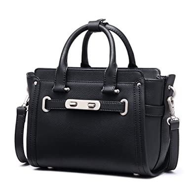 c1d7ae6926d2 Amazon.com  Genuine Leather Handbags For Women Designer Ladies Satchel  Shoulder Tote Bag  Shoes