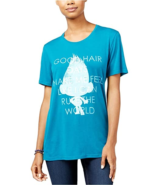 67cdd162920 Dreamworks Womens Trolls Good Hair Day Graphic T-Shirt at Amazon Women's  Clothing store: