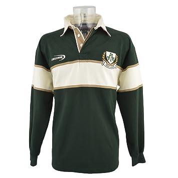 8db92f3dd5476 Lansdowne Camiseta de Manga Larga de Rugby de Irlanda Color Verde  Botella Natural 3 Tréboles  Amazon.es  Deportes y aire libre