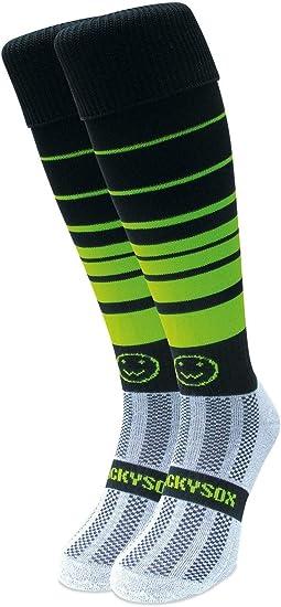 WackySox Black and White Hooped Sports Socks