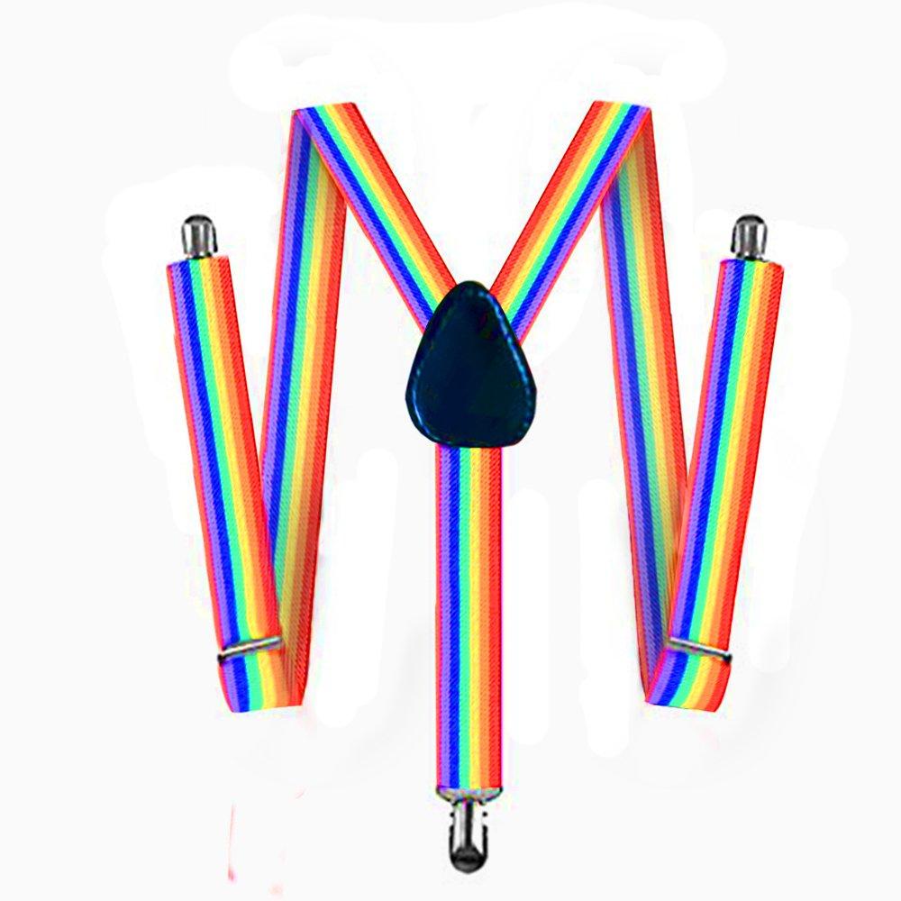 2 BLACK Suspenders For Men,Women Adjustable Suspends Bow Tie Set Solid Color Y Shape Women Adjustable Suspends Bow Tie Set Solid Color Y Shape FATOS-2BS