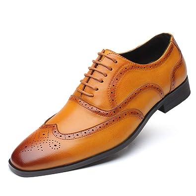 b324325051ab KItipeng Chaussure Homme Cuir -Lacets Derby Mocassin De Ville Homme en  Soldes,Pas Cher