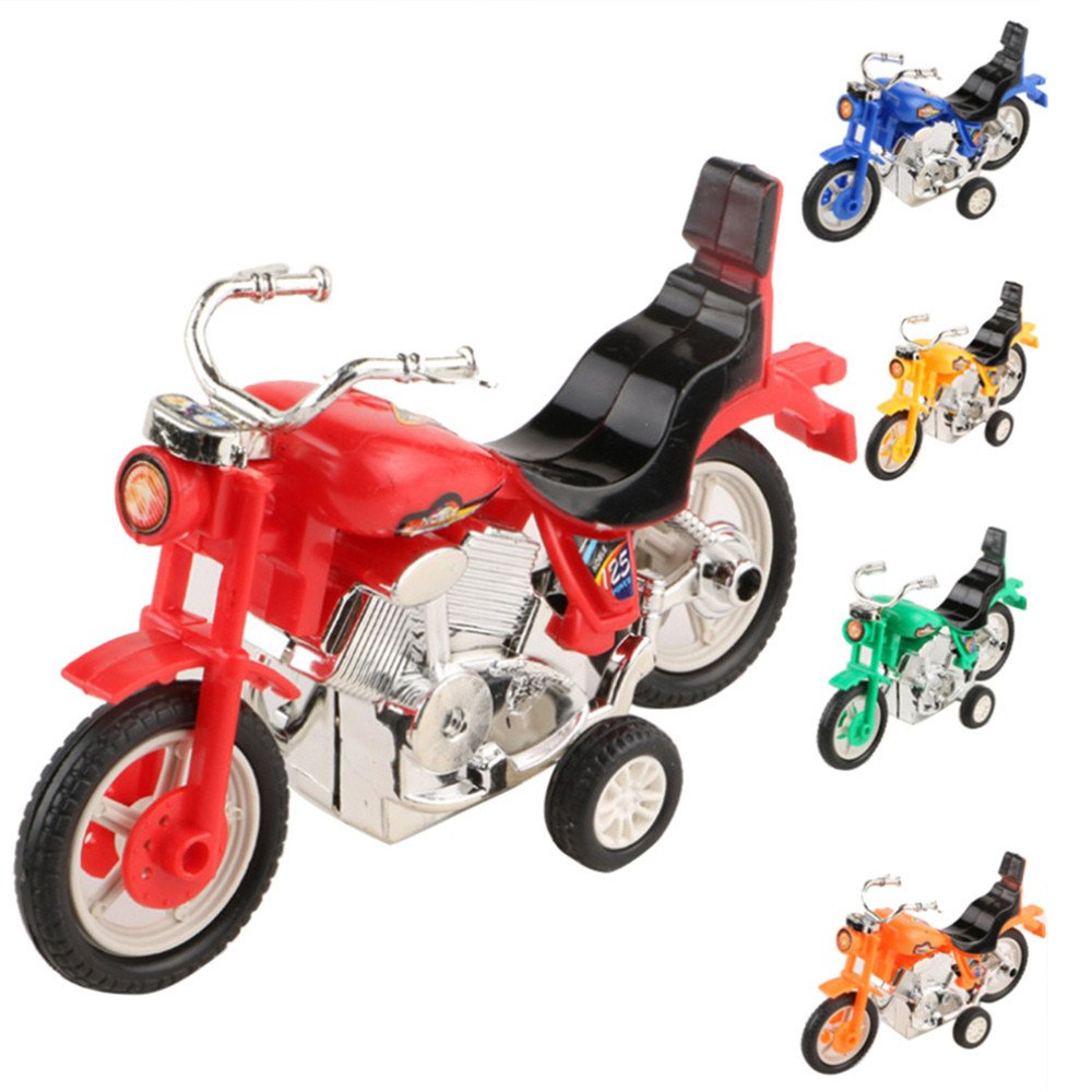 Sunny&Love 2018 Mini Motorcycle Toy Pull Back Motorcycle Early Model Educational Toys (Random)