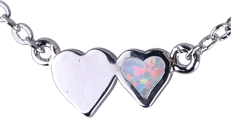 Sterling Silver I Love livres Coeur Charme Avec Boîte Chaîne Collier