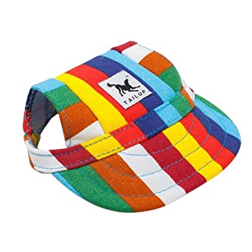 Image Unavailable. Image not available for. Colour  Aquiver Baseball Cap  Summer Canvas Puppy Small Pet Dog Cat Visor Hat Outdoor Sunbonnet ... d4acd8fbc59e