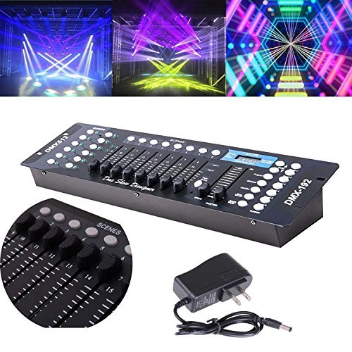 DMX 512 Controller Stage Light Console - 192 Channels - DJ Light Console - Party Pub DJ Nightclub KTV Moving Lighting Controller