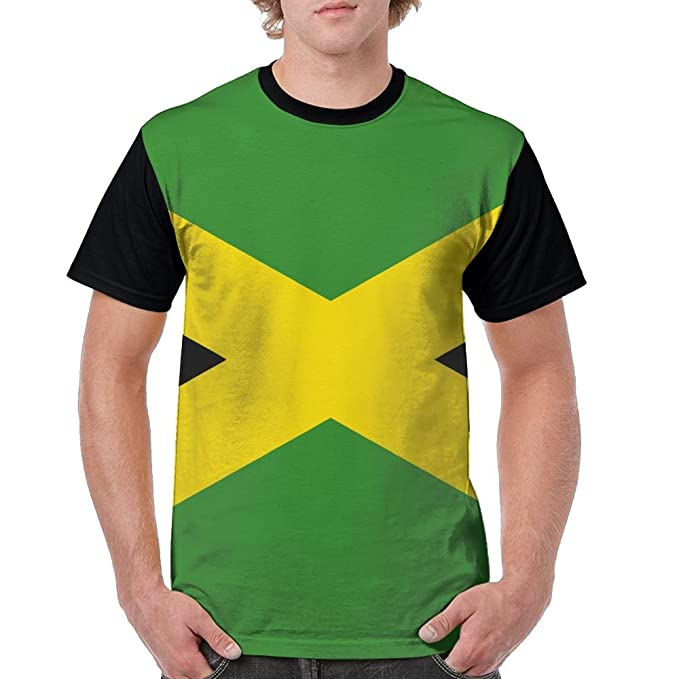 932f7948 Amazon.com: Jamaica Flag Shirts, Cheap No Minimum 100% Polyester Summer  T-Shirt Casual Sports Gym Fit Short Sleeve Print Tee for Men: Clothing