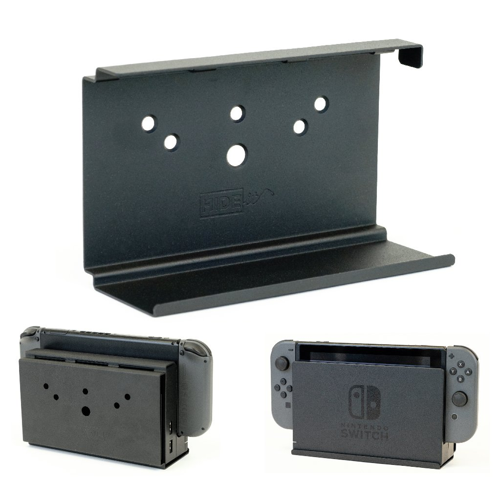 HIDEit Switch – Nintendo Switch Wall Mount – Mount for Nintendo Switch (Black) – HIDEit Behind the TV or DISPLAYit…