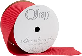 product image for Offray, Red Grosgrain Craft Ribbon, 2 1/4-Inch x 9-Feet, 2-1/4 Inch