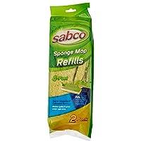 Sabco SAB32013 Sponge Mop Refill - Twin Pack