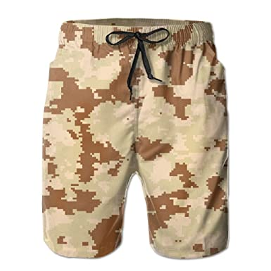 fb6bf771b8 JDHFAF Multi-Color Camouflage Men's Beach Board Shorts Quick Dry Summer  Casual Swimming Soft Fabric with Pocket | Amazon.com