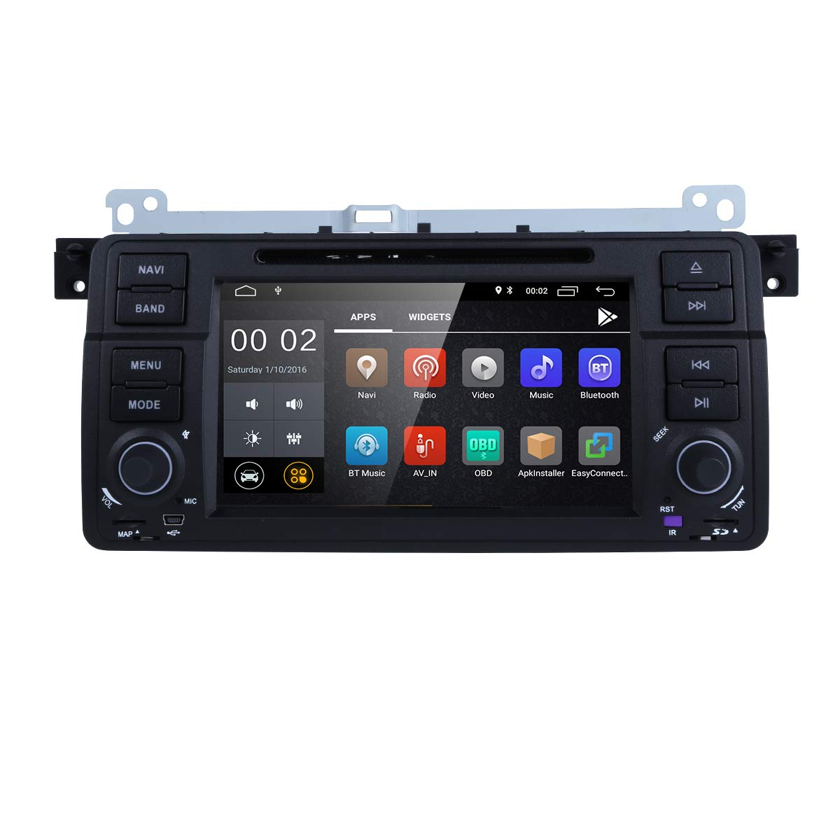 733ecad8436c Amazon.com  Android 8.1 OS Quad Core 1024600 HD Touchscreen Car Radio DVD  Player with GPS Navigation fit for BMW 3 Series E46 M3 318 320 325 330 335   Car ...