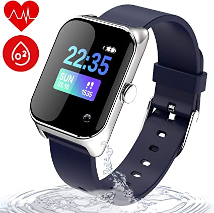 wonlex Fitness Tracker IP67 Waterproof for Swimming, Smart Watch with Blood Pressure, Sleep, Calorie and Heart Rate Monitor, Men and Women Activity ...