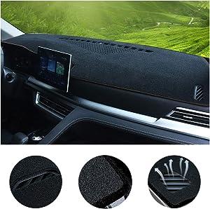 SureKit Car Custom Dash Cover for Toyota RAV4 2019-2020 Auto Dashboard Pad DashMat Dash Board Cover (Black line)