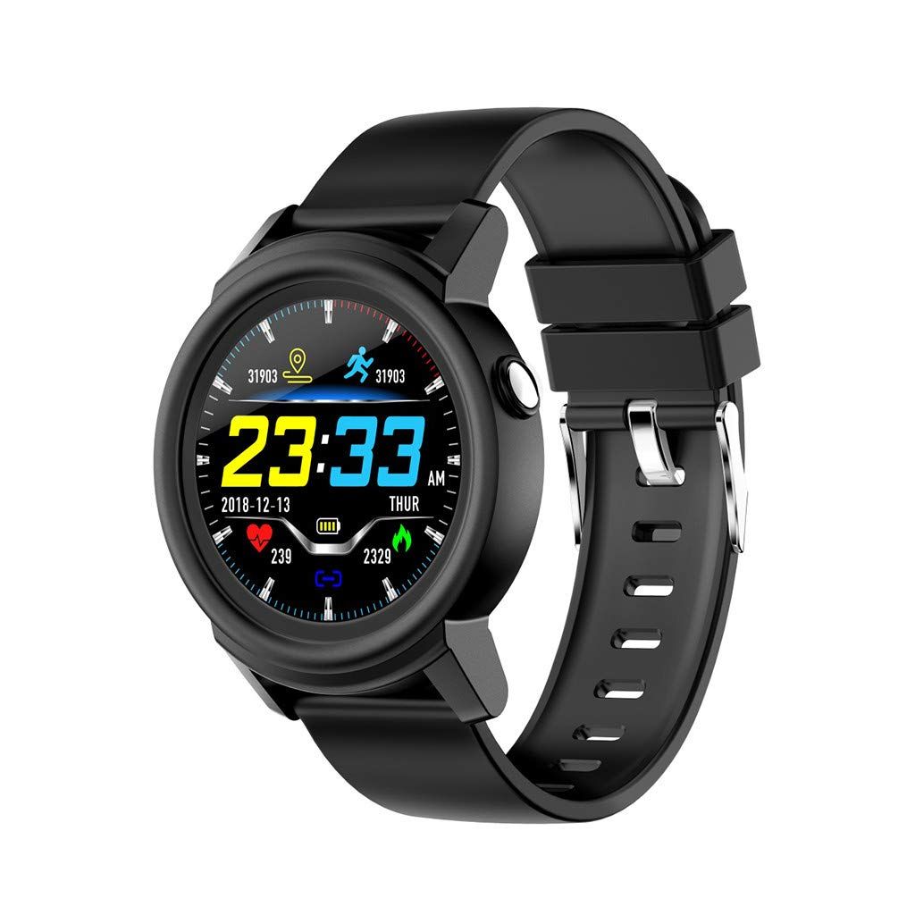 Smart Watch for Android/iOS,Jchen IP67 Waterproof Smart Watch Heart Rate Sleep Monitor Smart Health Fitness Tracker Bracelet Sport Smart Watch Best Gift for Father's/Mother's Day (Black)