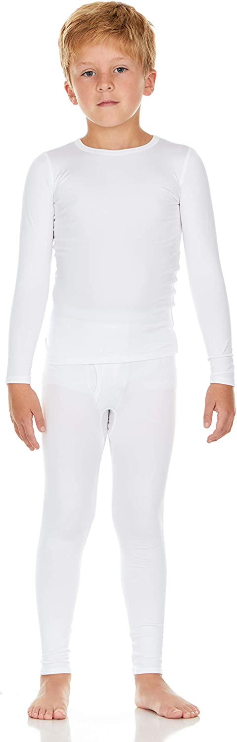 Thermajohn Boy's Ultra Soft Thermal Underwear Long Johns Set with Fleece Lined