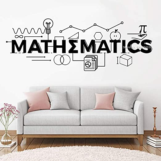 jiushixw Matemáticas Cita Firmar Calcomanías de Pared ...