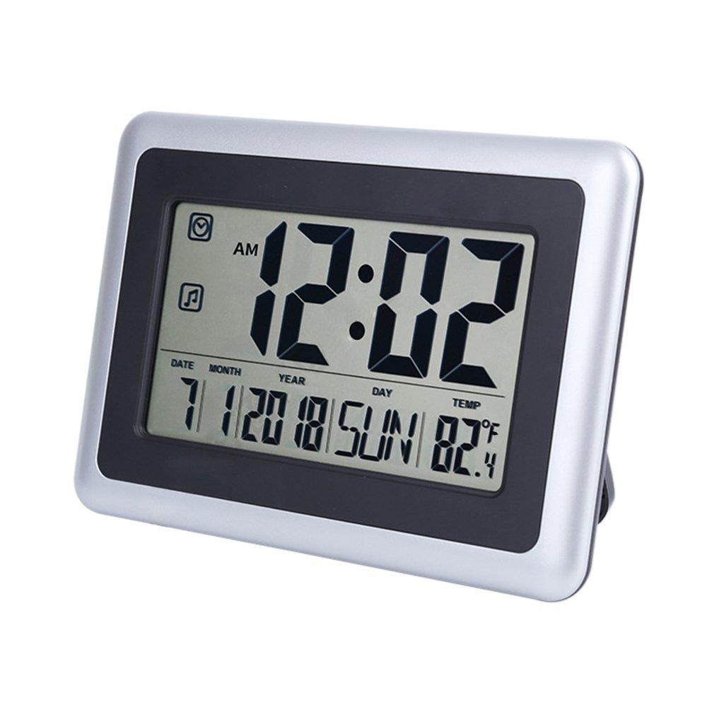 Amazon Ocest Digital Alarm Wall Clock Large Display 75 Lcd