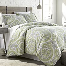 Southshore Fine Linens - The Pure Melody Collection - Comforter Sets, 3 Piece Set, Full / Queen, Green
