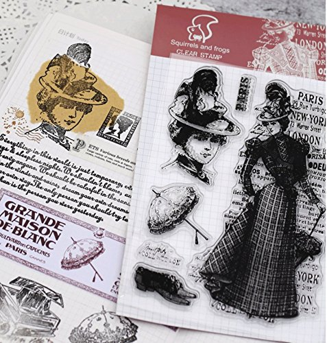 Layhome Vintage Clear Stamp Stamping Scrapbooking Notebook Album Cards Decor (Lady) by Layhome (Image #1)