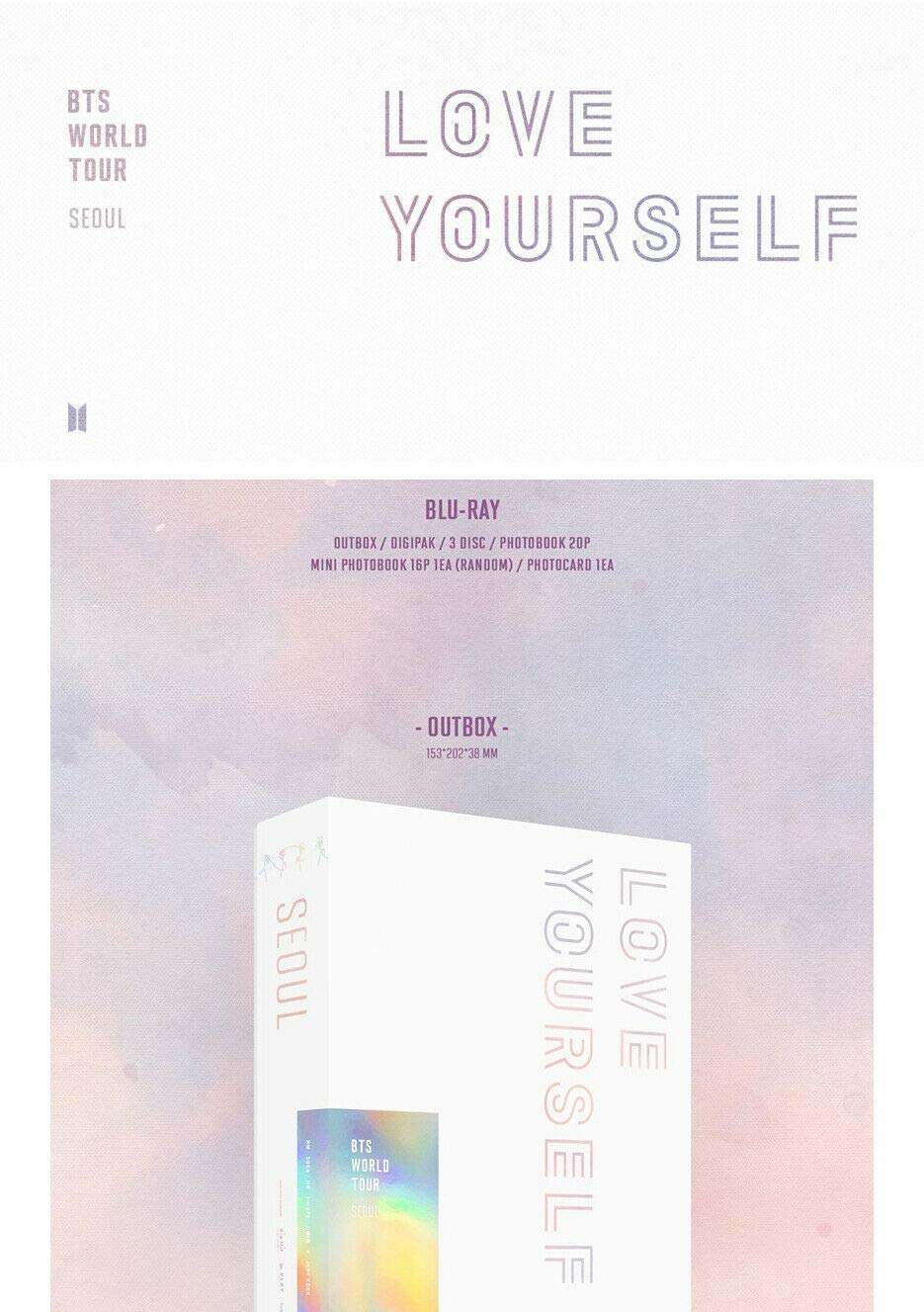 BTS WORLD TOUR LOVE YOURSELF IN SEOUL 3 CD+2ea P Book+CARD SEALED