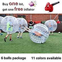 (12 Balls Package) inflatable Bubble Soccer Bubble Football inflatable Human Hamster Ball body Zorb Ball loopy Ball Bumper Ball 1.2m/1.5m Hieght dia 4'/5'