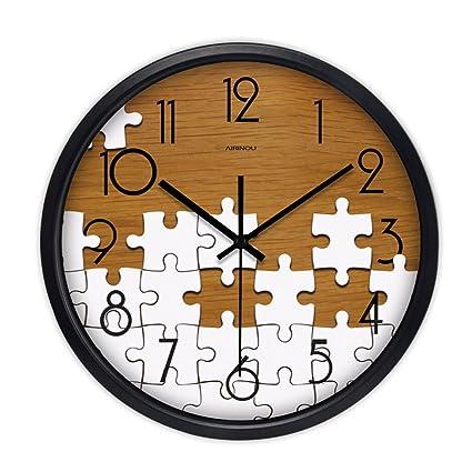 ASL Mute Relojes Y Relojes Salón Dormitorio Creativo Moderno Simple Reloj De Cuarzo Reloj De Bolsillo
