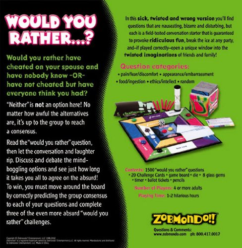 Amazoncom Would You Rather Boardgame The Twisted Sick