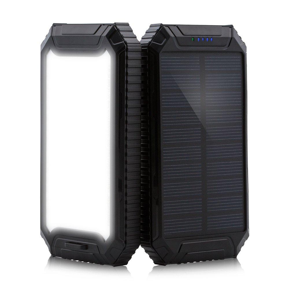 Amazon.com: Solar Power Bank, PowerGreen10000mAh Solar Charger 2 ...