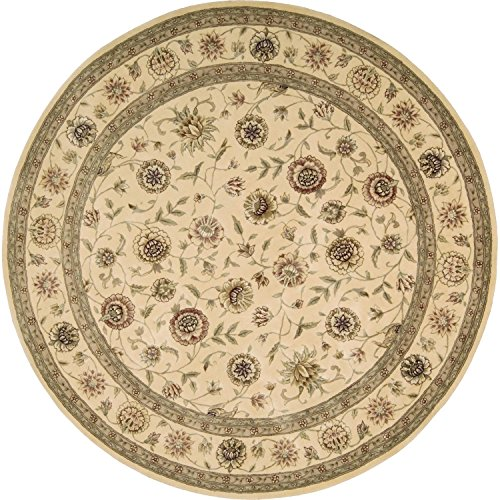 Nourison Nourison 2000 (2228) Ivory/Ivory Round Area Rug, 6-Feet by 6-Feet  (6' x ()