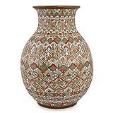 NOVICA Floral Large Ceramic Vase, Multicolor, 'Aztec Autumn'