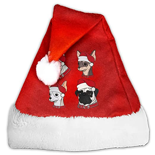 459d7348c353c Cute Dogs in Christmas Hats Christmas Santa Hat Party Caps for Childrens  and Adults Family Party