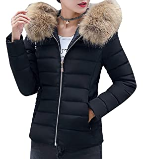 XQS Womens Winter Thicken Long Stand Collar Zip Down Jacket Coat Outwear