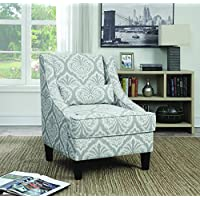 Coaster Home Furnishings 902412 Accent Chair, NULL, Grey/White Jacquard