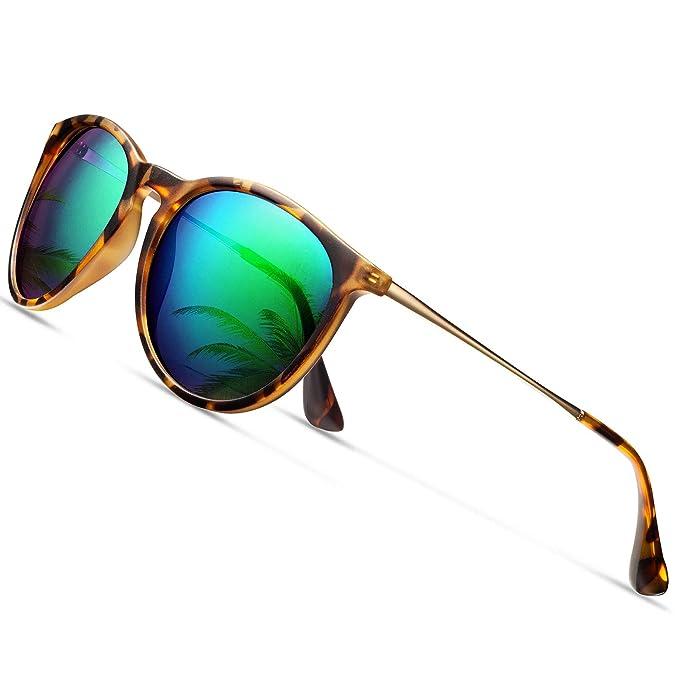 dfe531bd8cc6 Sunglasses for Women Polarized uv Protection Wearpro Fashion glasses Vintage  Round Classic Retro Aviator Mirrored Sun