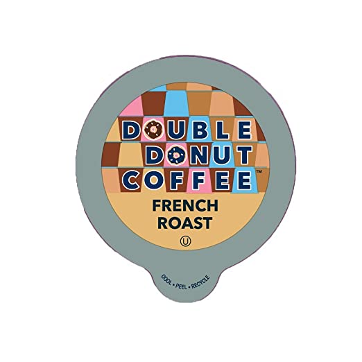 Double Donut French Roast Coffee, in Recyclable Single Serve Cups for Keurig K-Cup Brewers, 24 Count