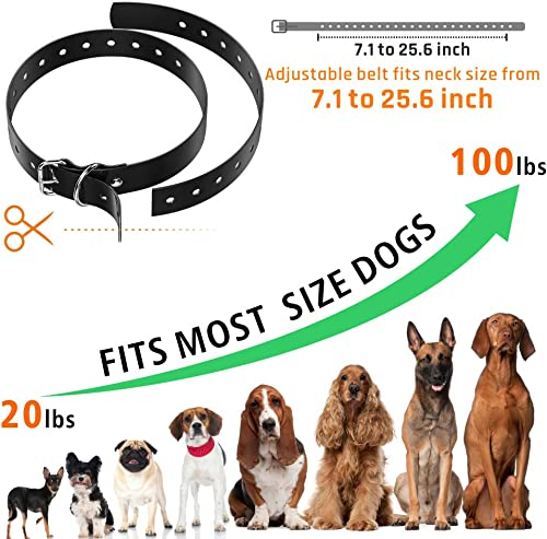 F-color Dog Training Collar Belt, Adjustable Waterproof Dog Collar Band for Electronic Training Shock Collar, Durable Plastic Dog Strap Accessories