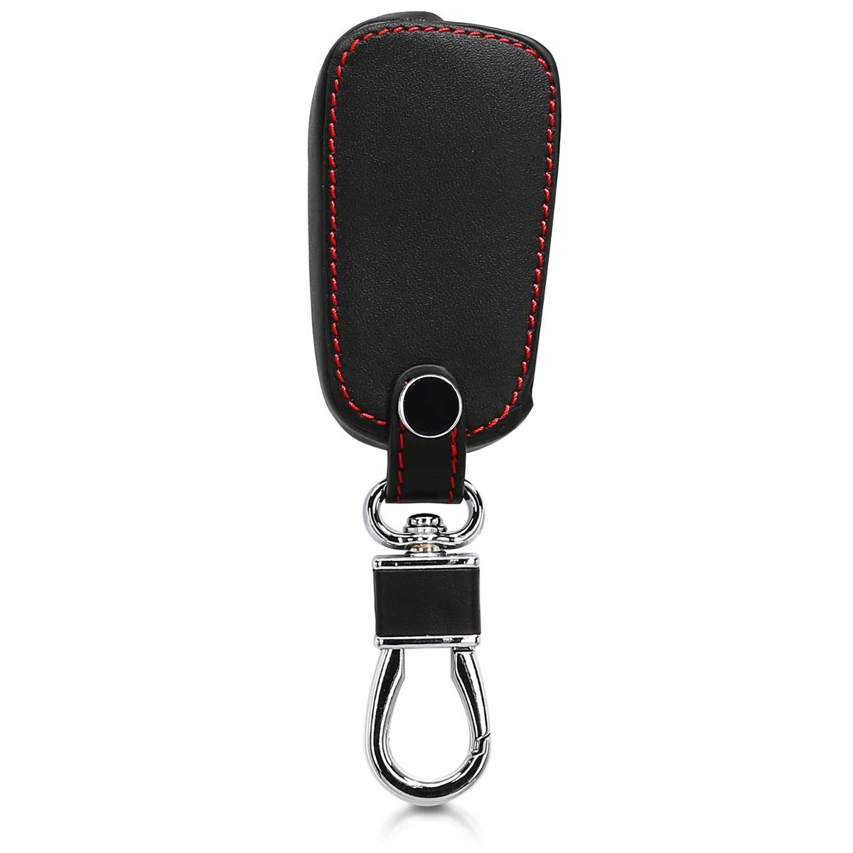 White//Black Heavy Duty PU Leather Protective Key Fob Cover for Opel Chevrolet 2 Button Car Flip Key kwmobile Car Key Cover for