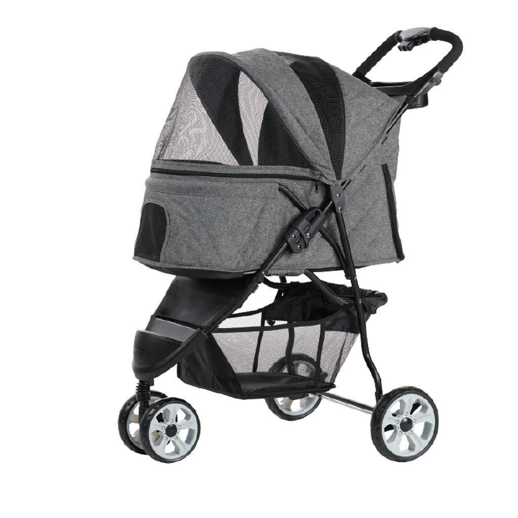 DDHZTA Pet stroller, pet bag puppy cat pet travel cart pet stroller