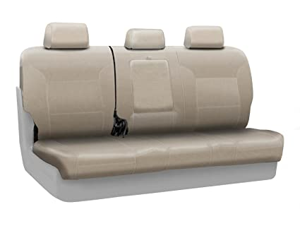 Coverking Custom Fit Rear 60/40 Back Seat Cover for Select Mercedes-Benz GLK350 Models - Premium Leatherette Solid (Cashmere)